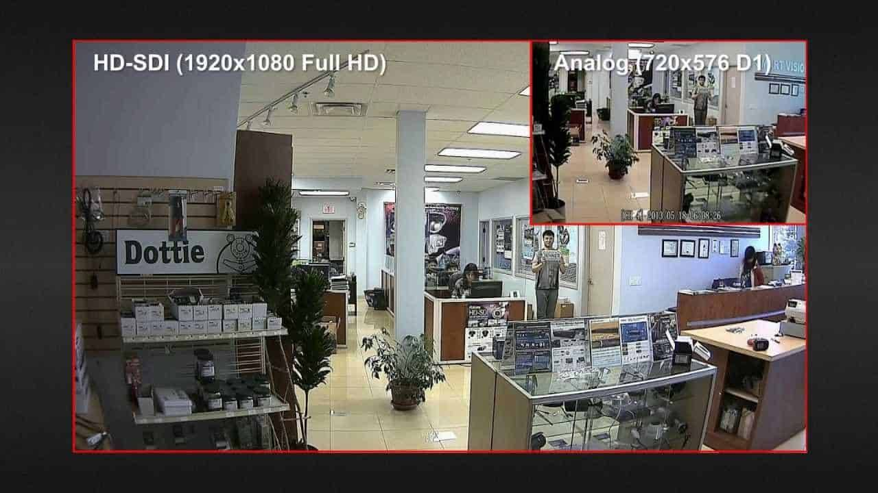 analog vs HD SDI resolution photo